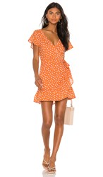 Cleobella Alexia Short Dress In Orange. Copper