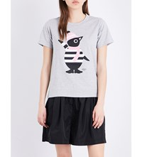 Chocoolate Penguin Cotton T Shirt Grey
