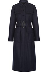 Joseph Mili Belted Wool Blend Felt Coat Navy