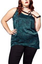 Mblm By Tess Holliday Plus Size Women's Asymmetrical Sleeveless Top