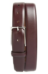 Nordstrom Big And Tall Shop Pullman Leather Belt Burgundy Royale