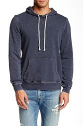 Threads 4 Thought Burnout Pullover Fleece Hoodie Blue