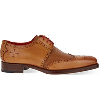 Jeffery West Bay Leather Derby Shoes Tan
