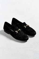 Urban Outfitters Uo Velvet Loafer Black