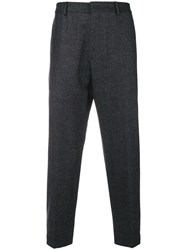 Mcq By Alexander Mcqueen Plaid Tailored Trousers Grey