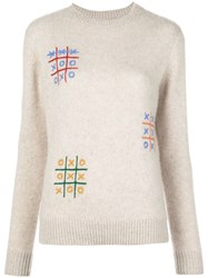 The Elder Statesman Cashmere Long Sleeve Jumper Neutrals