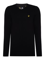 Lyle And Scott V Neck Long Sleeve Jumper Black