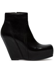 Rick Owens 110 Concealed Wedge Boots Leather Black