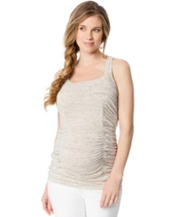 Wendy Bellissimo Maternity Ruched Racerback Tank