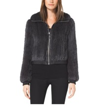 Michael Kors Rabbit Fur Bomber Derby