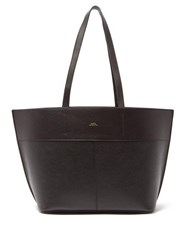 A.P.C. Totally Small Leather Tote Bag Black