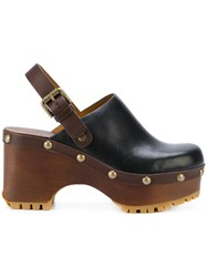 See By Chloe Tasha Clogs Calf Leather Leather Rubber Wood Black