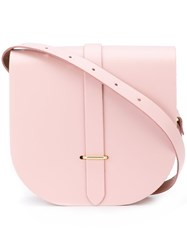 The Cambridge Satchel Company Saddle Crossbody Bag Pink And Purple