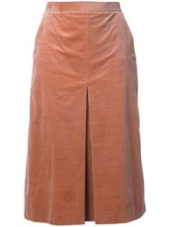 Cityshop Box Pleated Pencil Skirt Brown