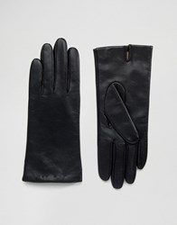 Monki Leather Gloves Black