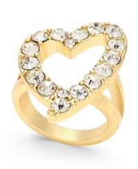 Thalia Sodi Gold Tone Crystal Open Heart Ring Only At Macy's
