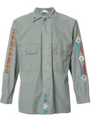 Htc Hollywood Trading Company Printed Details Shirt Green