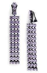 Ashley Williams Cindy Crystal Earrings Violet