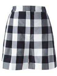 L'autre Chose Oversized Gingham Shorts Black