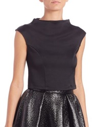 Abs By Allen Schwartz Funnelneck Crop Top Black