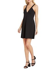 Bcbgeneration Plunging V Neck Fit And Flare Dress Black