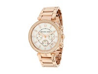 Michael Kors Mk5491 Parker Chronograph Rose Gold Ip Analog Watches Khaki