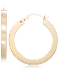 Signature Gold Square Tube Hoop Earrings In 14K Over Resin Gold