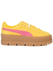 Fenty X Puma Suede Cleated Creeper Sneakers Suede Rubber 4.5 Yellow Orange