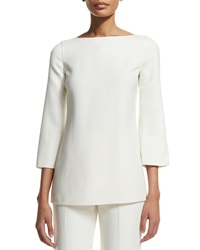 Michael Kors Collection 3 4 Sleeve Boat Neck Tunic White