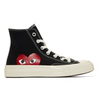 Comme Des Garcons Play Black Converse Edition Chuck Taylor All Star '70 High Top Sneakers