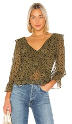 Misa Los Angeles Lilyanna Top In Army. Green Dot