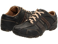 Skechers Diameter Vassell Black Tan Men's Lace Up Casual Shoes