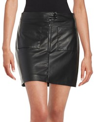 Design Lab Lord And Taylor Leatherette Mini Skirt