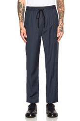 3.1 Phillip Lim Tapered Elastic Waist Pants In Blue