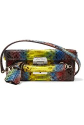 Mark Cross Grace Small Python Shoulder Bag Snake Print