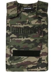 Sankuanz Bullet Proof Styled Vest Green