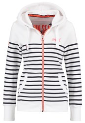 Superdry Sun And Sea Tracksuit Top White Navy Off White