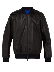 Berluti Leather And Silk Bomber Jacket Black