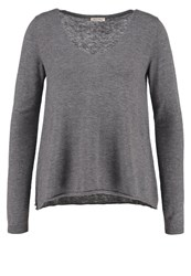 American Vintage Blossom Jumper Gris Chine Light Grey