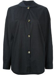 Romeo Gigli Vintage Peter Pan Collar Shirt Black