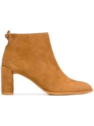 Stuart Weitzman Lofty Ankle Boots Brown