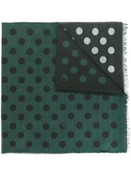 Paul Smith Ps By Dotted Print Scarf Green