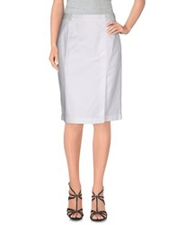 Aspesi Skirts Knee Length Skirts Women White