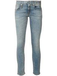 R 13 R13 Cropped Skinny Jeans Blue