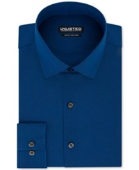 Unlisted By Kenneth Cole Men's Slim Fit Chambray Dress Shirt Cadet Blue