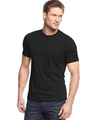Alfani Big And Tall Solid Stretch Crew Neck T Shirt Deep Black