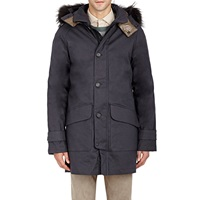 Duvetica Ennon Long Parka With Fur Trimmed Hood Brown