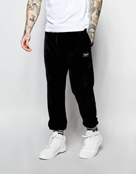 Jaded London Velour Joggers Red