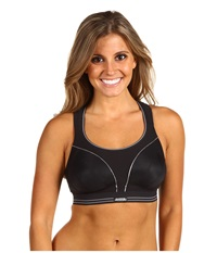 Shock Absorber Run Sports Bra B5044 Black Silver Women's Bra