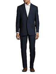 Lauren Ralph Lauren Classic Fit Solid Wool Suit Navy